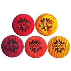 Koosh Ball Refill 5 Pack, Red/Orange