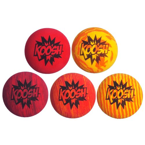 Koosh Ball Refill 5 Pack, Red/Orange