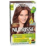 Garnier Nutrisse Creme Coloration Warme Kastanie 6.52 / Färbung für Haare für permanente Haarfarbe (mit 3 nährenden Ölen) - 3 x 1 Stück