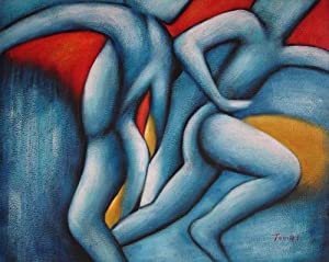 Abstract Art Bodies 20X24 inch Abstract Art Oil