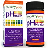 HealthyWiser® Ph Test Strips, Accurate Results in 15 Seconds + BONUS Alkaline Food Chart PDF + 21 Alkaline Recipes eBook - 100ct Per Barrel