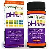 HealthyWiser Ph Test Strips, Accurate Results in 15 Seconds + BONUS Alkaline Food Chart PDF + 21 Alkaline Recipes eBook - 100ct Per Barrel