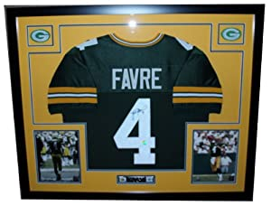 Brett Favre Autographed Signed and Framed Green Packers Jersey Auto Favre Certified... by Premier+Sports+Collectibles