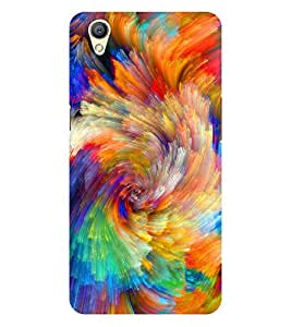 Chiraiyaa Designer Printed Premium Back Cover Case for OPPO A37 (colorful painting) (Multicolor)