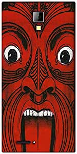 Snoogg Aztec Face Designer Protective Back Case Cover For Micromax Canvas Express A99