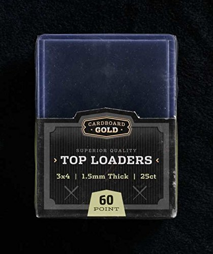 "1x 25ct CBG 60 pt Cardboard Gold 3"" x 4"" PRO Toploaders KEEPS THICK CARDS ULTRA PROTECTED - 1"