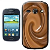 Fancy A Snuggle Warm Melted Hot Chocolate Swirls Design Hard Case Clip On Back Cover for Samsung Galaxy Fame S6810