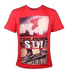 Vitamins Boys' T-Shirt (08B-494-12-Red_Red_12 - 13 Years)