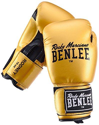 BENLEE Rocky Marciano Guantoni da boxe Training Rodney, Oro (Gold/Black), 12