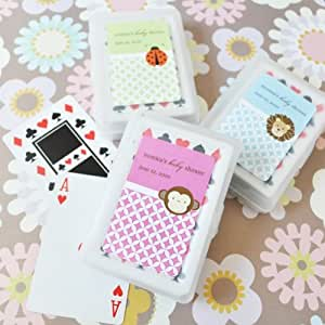 baby animals personalized playing cards wedding baby shower favors