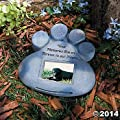 Pet Paw Memorial Stepping-Stone - with Photo Space