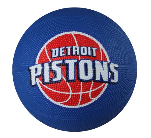 Spalding NBA Detroit Pistons Mini Rubber Basketball