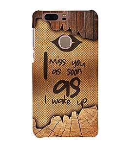 I Miss You 3D Hard Polycarbonate Designer Back Case Cover for Huawei Honor 8