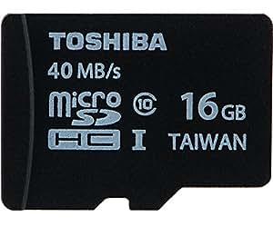 Toshiba microSDHC 東芝 UHS-I 超高速 Class10 [並行輸入品] (16GB, 40MB/s)