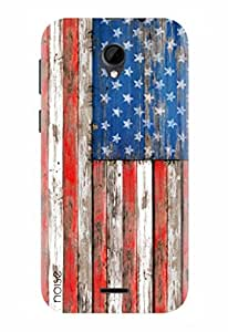 Noise Designer Printed Case / Cover for Intex Aqua Q7 / Graffiti & Illustrations / Flag In Wood Design