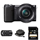 Sony NEX-5TL Compact Interchangeable Lens Digital Camera with 16-50mm and 55-210mm Power Zoom Lenses and Accessories
