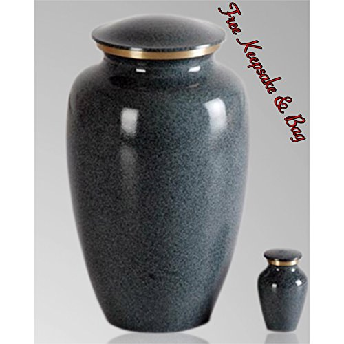 Memorials4u Classic Maus Granite Cremation Urn for Human Ashes - Adult Funeral Urn Handcrafted - Affordable Urn for Ashes - Free Keepsake and Urn Bag (Ashes Urn compare prices)