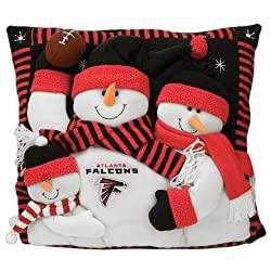 Atlanta Falcons Snowman Family Pillow