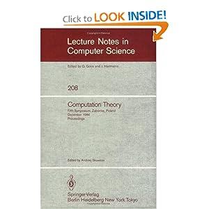Computation theory 1984, 5 conf Andrzej Skowron