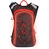 'NEW' Design With FLASHING LED Trim. 'Hydration Pack' With A 2 Liter 'Hydration Bladder'. This 'Hydration Backpack...
