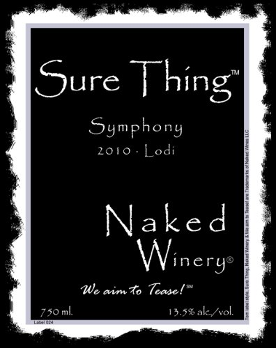 2010 Naked Winery Sure Thing Symphony 750 Ml