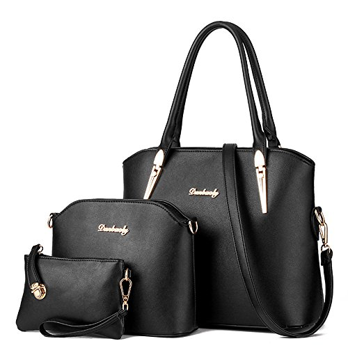 LINGTOM-3-Pieces-Lady-Womens-PU-Leather-Shoulder-Bags-Top-Handle-Cross-Satchel-Handbag-Set