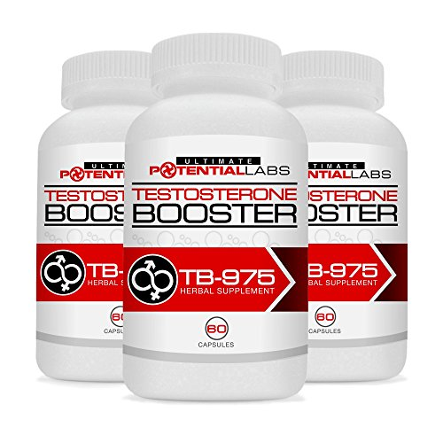TB-975 Testosterone Booster (3 Pack) - Ultimate Sports Nutrition Dietary Supplement Rockets your Testosterone Level Through the Roof & Gives you the Energy, Endurance & Stamina of Superman in the Gym & Bedroom; Energizing Muscle Building & Libido Enhancer Stimulants of Fenugreek, DIM (Diindolymethane), Tongkat Ali (Eurycoma Longifolia), Vitamin B6, Magnesium, Zinc, Piper Nigrum, Rhodiola (No Tribulus) for Pre / Post Workout; No Other Product Stacks Up; Money Back Guarantee
