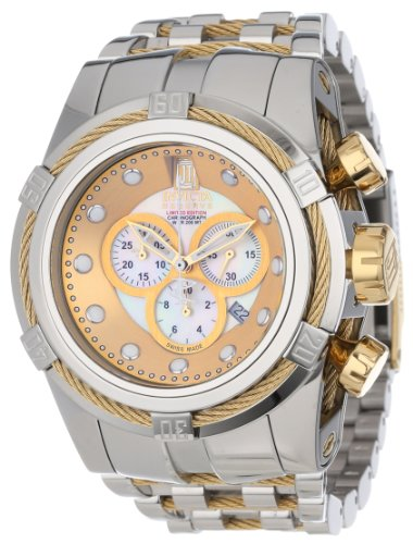 Jason Taylor for Invicta Collection 12952 BOLT Zeus Chronograph Mother-Of-Pearl Dial Stainless Steel Watc
