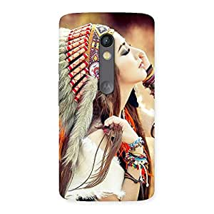 Native Girl Multicolor Back Case Cover for Moto X Play