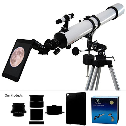 Ya Cellphone Eyepiece Adapter For Spotting Scopes/Telescopes/Microscopes Compatible With Ipad Mini(Not For Ipad Mini 2) [Images Fully Displaying On The Screen] [Focal Length Of 14Mm] [Visual Angle 75Degrees]