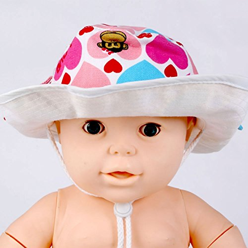 Baby Clothes - Pink Heart Prink Baby Cowboy Sun Hat Cap