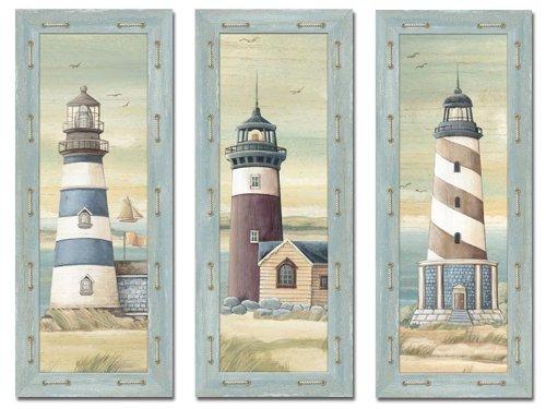 Nautical bathroom decor for Lighthouse bathroom ideas