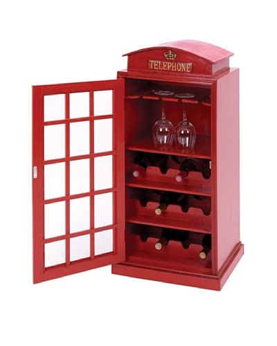 Telephone Booth Wine Organizer