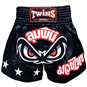 Buy Twins Special No Fear Muay Thai Shorts - Black - X-Large by Twins Special