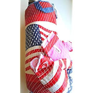 Boxing Set Kit for Girls 1 Pair of Pink Gloves & Punching Bag 20
