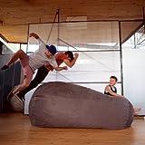 Jaxx Sofa Saxx 7.5 ft Bean Bag, Charcoal Microsuede