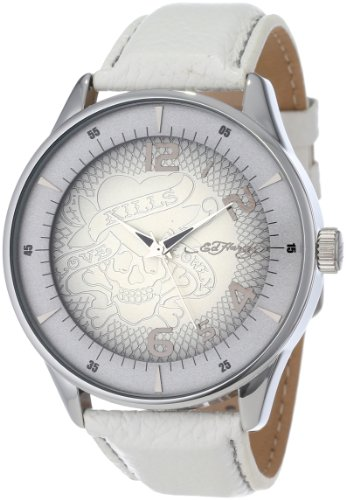 Ed Hardy Men's CG-SS Cartography Quartz Analog Silver Tone Case Watch