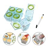 Brother Max Freezer Food Storage Weaning Pots (6 x 40 ml) + (4x170ml) 1st and 2nd Stage, Large Set