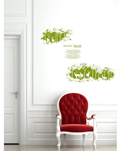 Ambiance Live Vinilo Decorativo Love's secret - Verde