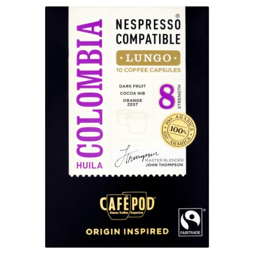 CafePod Nespresso Compatible Arabica Colombia (Pack of 4, Total 40 Pods)