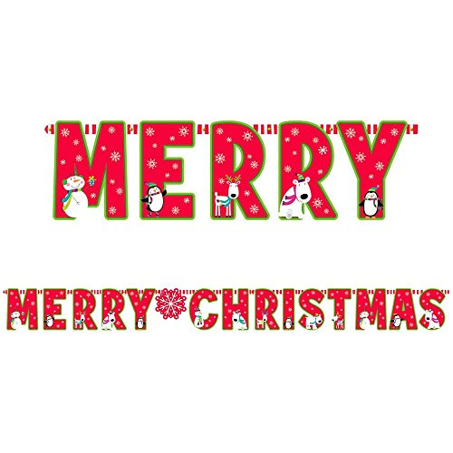 Joyful Snowman Christmas Banner (Each)