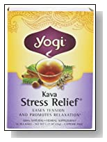 Yogi Kava Stress Relief, Herbal Tea Supplement, 16-Count Tea Bags (Pack of 6)