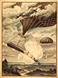 CIRCUS ADVERT BALLOON DROP STUNT PARACHUTE HOT AIR UK 30X40 CMS FINE ART PRINT ART POSTER BB7699