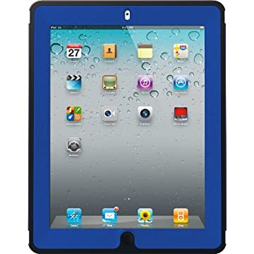 OtterBox Defender Series Case with Screen Protector and Stand for iPad 2, 3 and 4 (Deep Sea Blue)