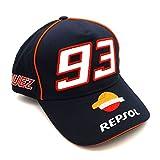 【 マルク・マルケス 】 REPSOL レプソル NO.93 オフィシャル CAP (ネイビー)