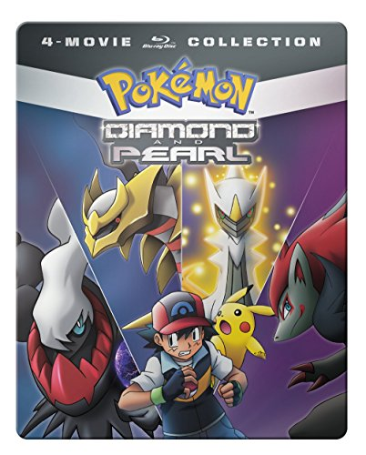Blu-ray : Pokemon Diamond And Pearl Movie 4-pack (Boxed Set, Full Frame, Steelbook, 4 Disc)