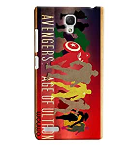 Omnam Avengers Age Of Ultron Printed Designer Back Cover Case For Xiaomi Redmi Note