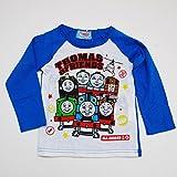 きかんしゃトーマス 長袖Tシャツ 100cm-120cm(643TM4011) (100cm, ブルー)
