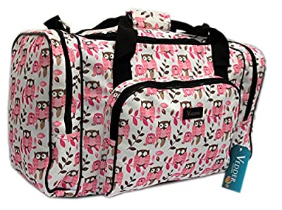 Holdall Hand Luggage Ladies Fully Lined Shoulder Bag *Owl Print* Butterflys * Hearts*
