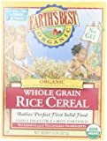 Earths Best Organic Whole Grain Rice Cereal, 8 Ounce Box (Pack of 12)